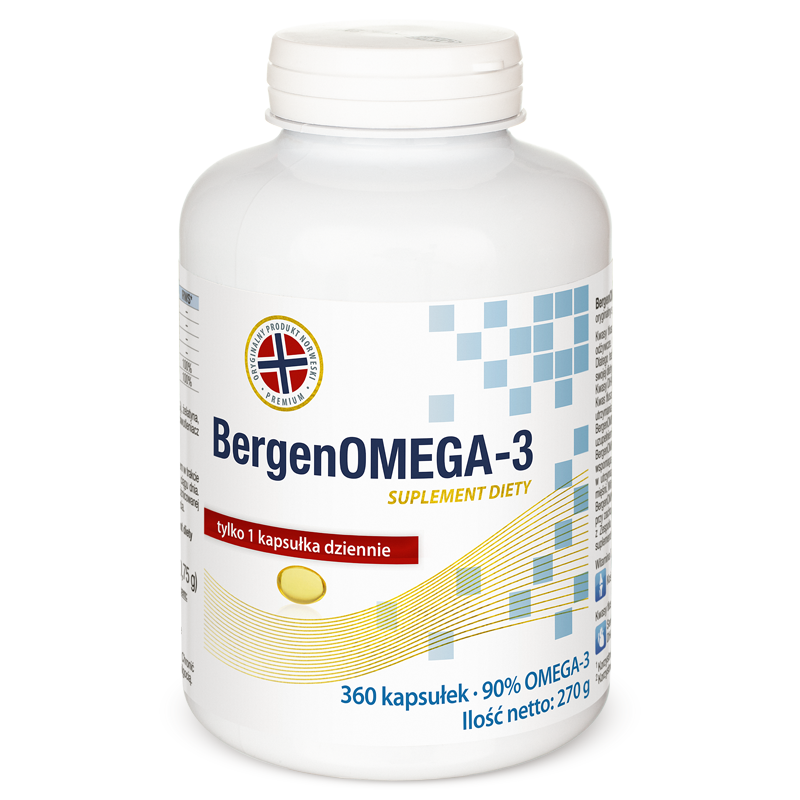 BergenOMEGA-3 zapas roczny Natural Pharmaceuticals