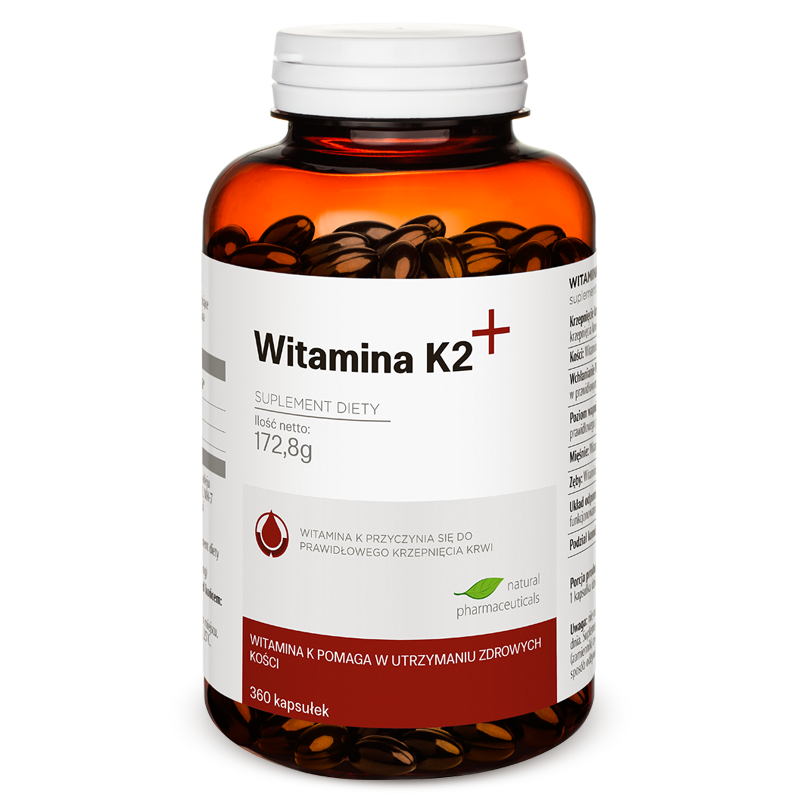 Witamina K2 plus zapas roczny Natural Pharmaceuticals