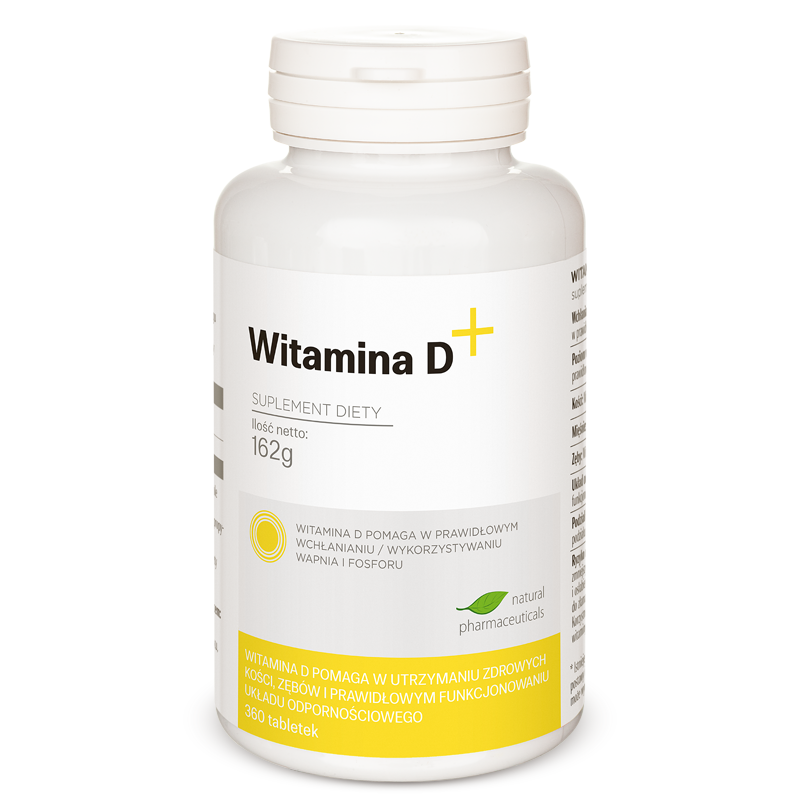 Witamina D plus Natural Pharmaceuticals zapas roczny