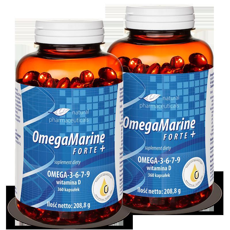 Omega Marine Forte zapas roczny Natural Pharmaceuticals