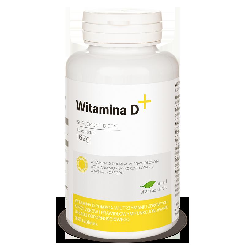 Witamina D plus Natural Pharmaceuticals zapas roczny